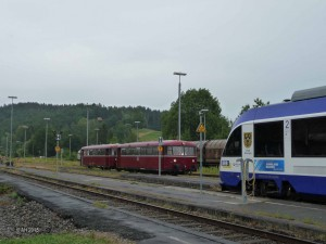 Zug der Fuchstalbahn aus Landsberg, Ankunft 11:55